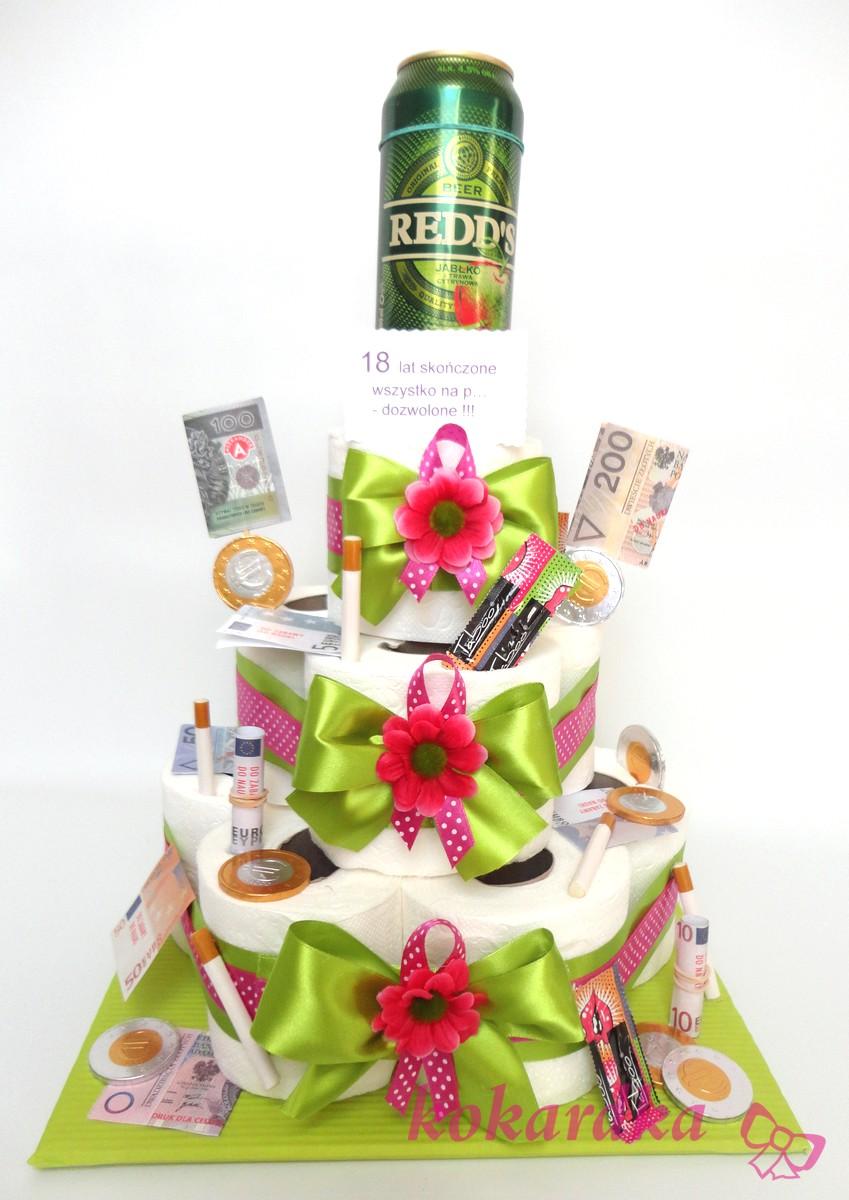 Unikalne Tort Urodzinowy na 18-stkę dla Dziewczyny ⋆ Kokardka QW64