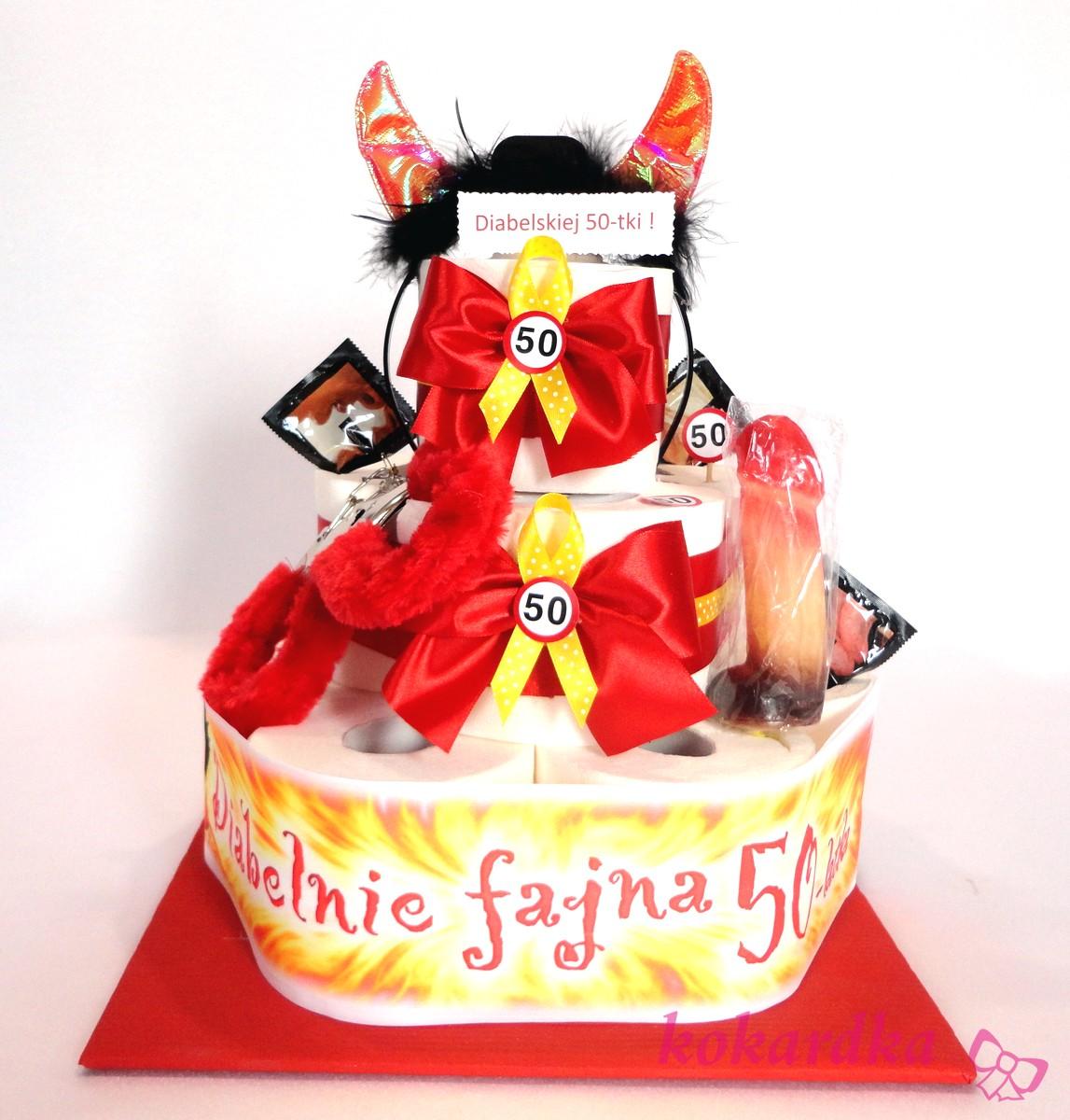 Chwalebne Śmieszny Tort Urodzinowy Diabelskiej 50-tki dla Kobiety ⋆ Kokardka QV85