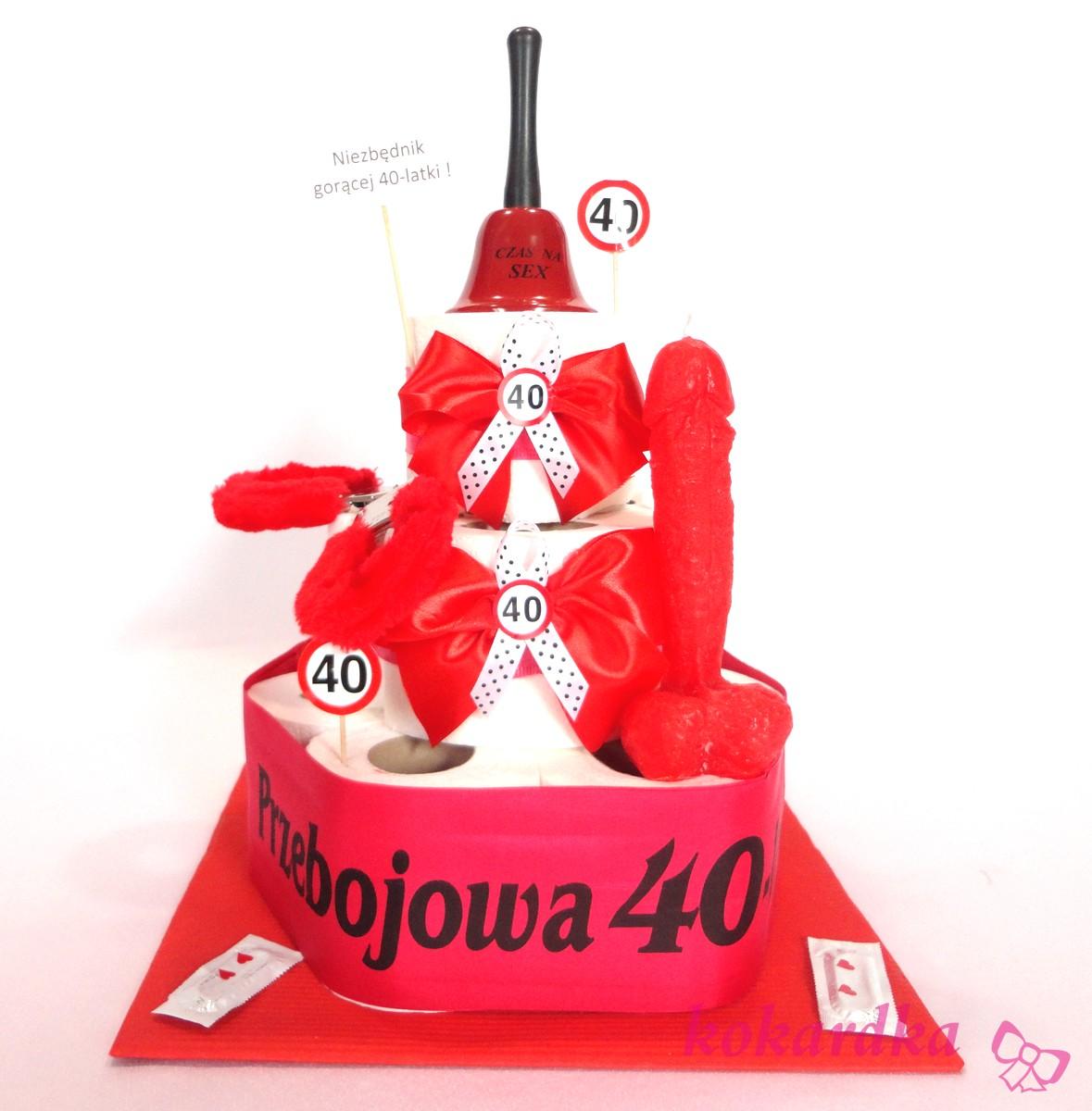Tort Urodzinowy Niezbednik Goracej 40 Latki Oryginalny Prezent Na