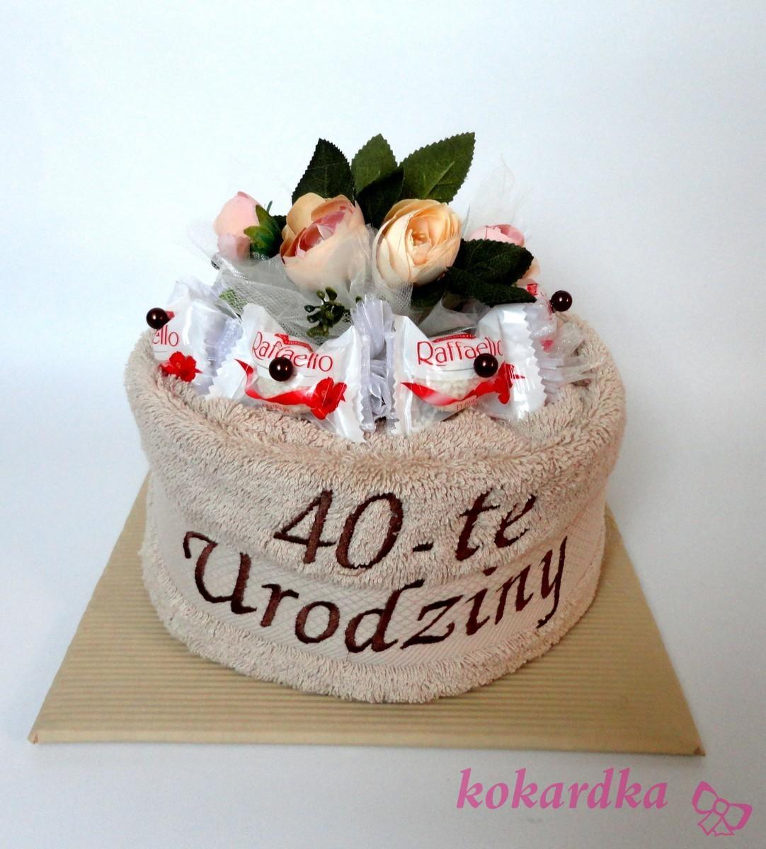 Tort Z Recznikow Z Pralinami Rafaello Na 40 Urodziny Dla Mezczyzny