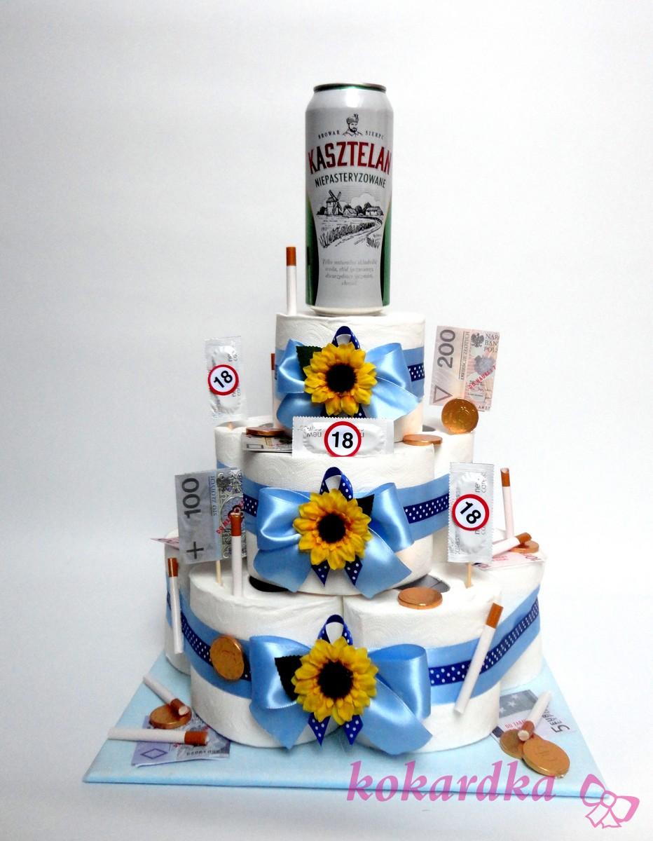 Chwalebne Śmieszny Tort Urodzinowy na 18-stkę dla Chłopaka ⋆ Kokardka QF31