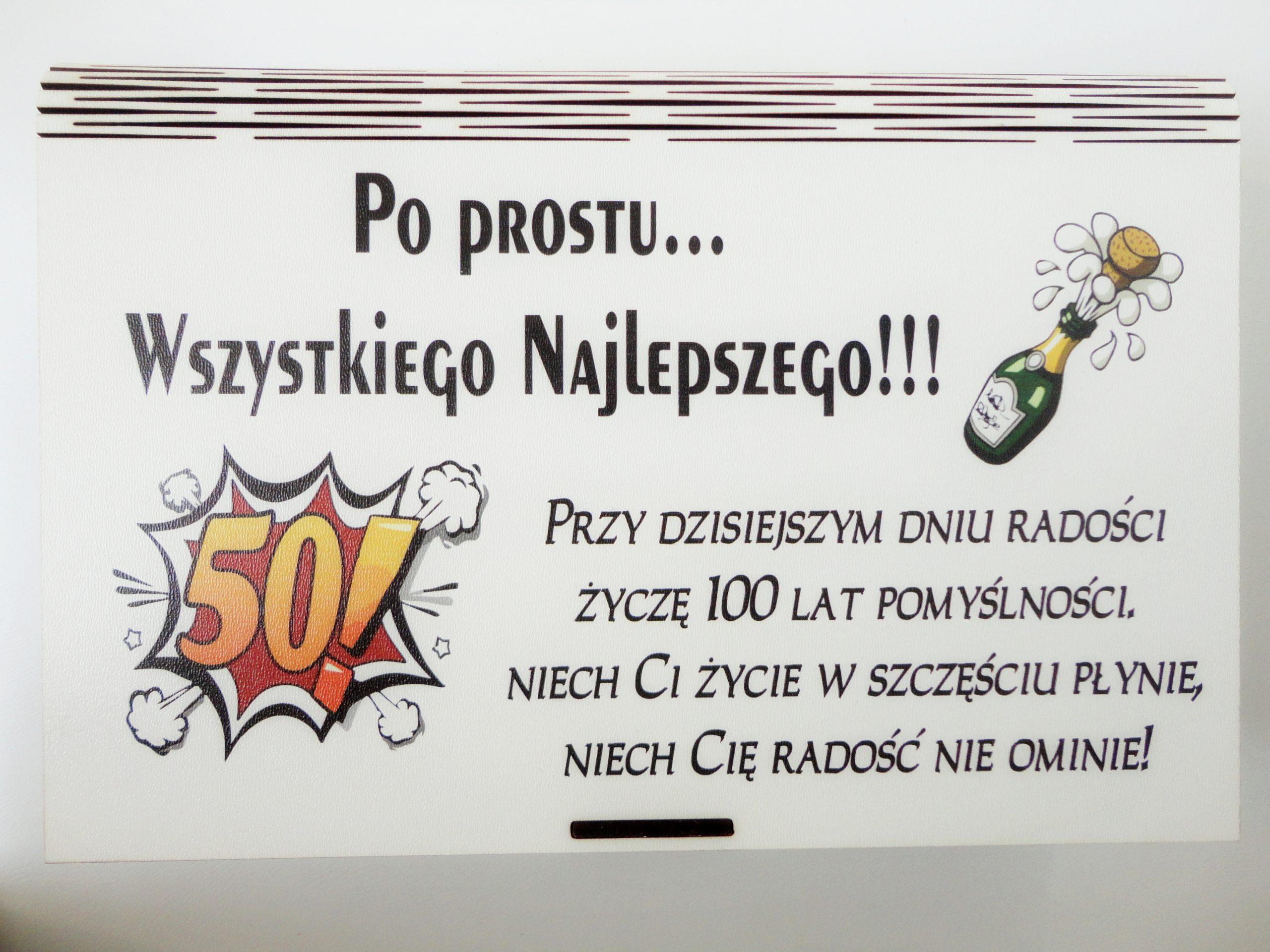 Pudelko Z Przegrodkami Na Upominki Na 50 Urodziny Dla Faceta Kolegi Kolezanki Kobiety Kokardka